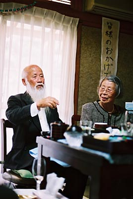 アサヒナさんのおじいさんと、おばあさん。 きょうは長崎からやってきました。