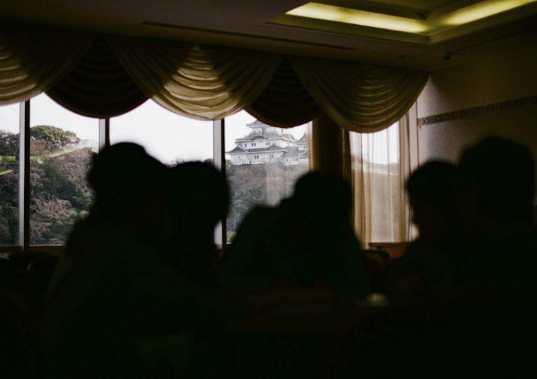 和歌山城に見守られ