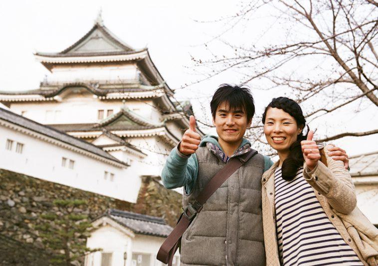 和歌山城にも報告!