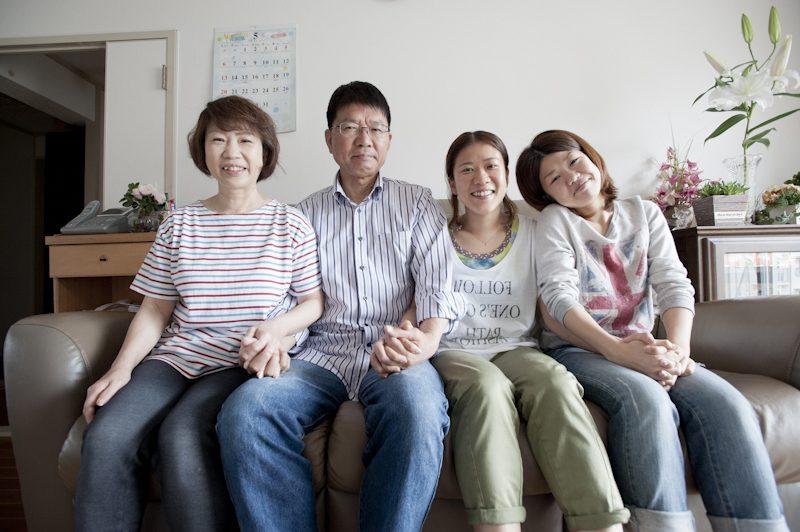 最初のシャッターは大好きな家族と