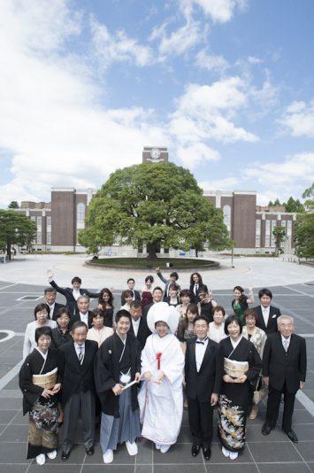 思い出の京都大学で集合写真!