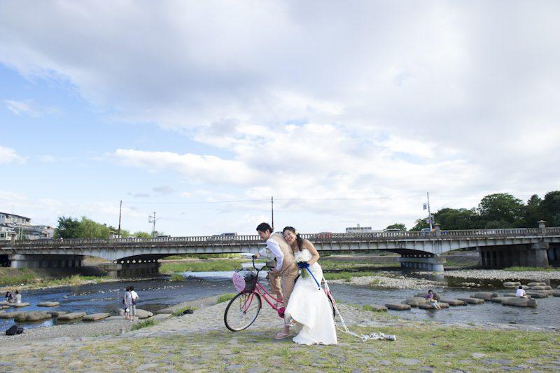夏といえば、川遊びに自転車!