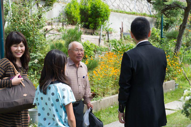 ゲストも次々やってきました。遠く仙台から来て下さったお祖父さま