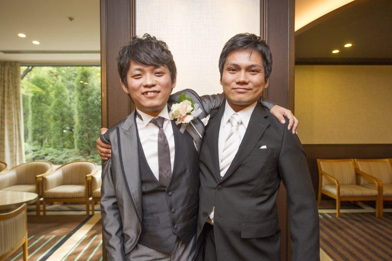 マサノリさんも弟さんと中座します