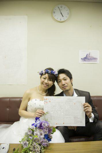 夫婦になった瞬間の記念すべき写真です!!
