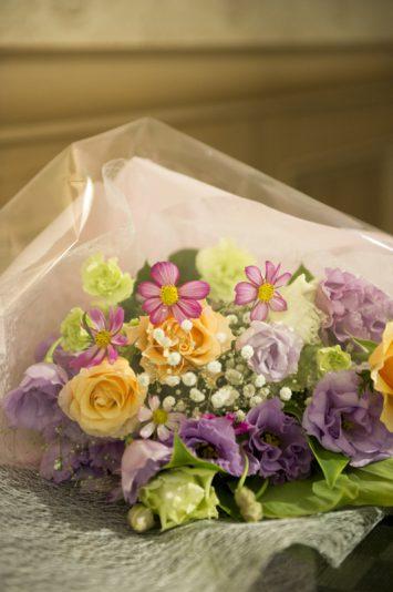 贈られたのはお母さまの大好きなお花